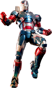 Iron Patriot. Smart armor, superhuman strength, durability, flight, magnetic blasts, heat seeking missiles, lasers, flamethrowers, and communications system | Cmaunei Kids